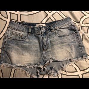 Pink Denim Shorts Size 8